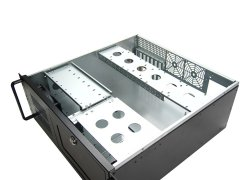 19-inch ATX rack-mount 4U server case - black