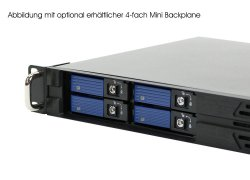 19-inch mini-ITX rack-mount 1U server case - NU-R9100D25DR - 25cm, with drive-bay