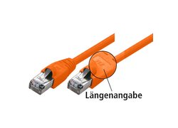 Netzwerk Patchkabel S/FTP, Cat 6, 250MHz, orange, 25,0m