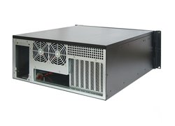 19-inch ATX rack-mount 4U server case - with 6 x 5 1/4