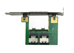 Dual Mini SAS slot-bracket adapter / 2x ext. SFF-8088 to 2x int. SFF-8087