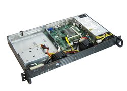 19 Mini Server 1HE kurz Emu A8 PRO - Quad-Core Celeron, Dual LAN