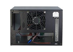 inter-tech SC-4002 mini server chassis with 2-HDD backplane / mini ITX