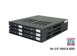 Mini Backplane ST-1060SATA for 6 x 2,5 SATA I+II HDD / SDD