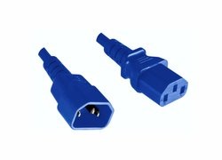 AC power cord extension - blue - 1.8m