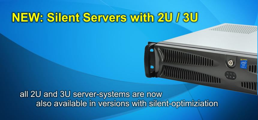 Silent server systems with 2U & 3U